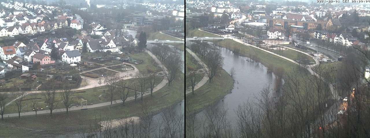 Blick auf das Gartenschaugelände mit der Webcam unserer Stadtwerke